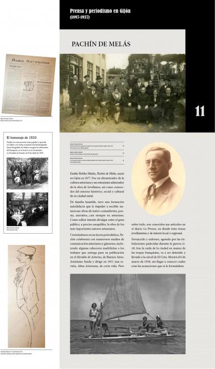 Pachin exposición la prensa en Gijón