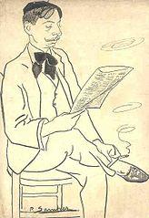 Caricatura de Pachín de Melas dibujada por su amigo Pedro Suarez