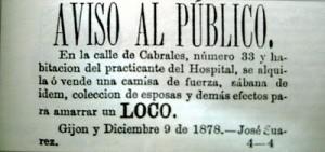 El Comercio. Anuncio y Noticias 1878
