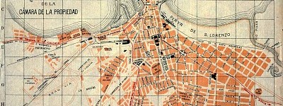 Plano de Gijón. Año 1912