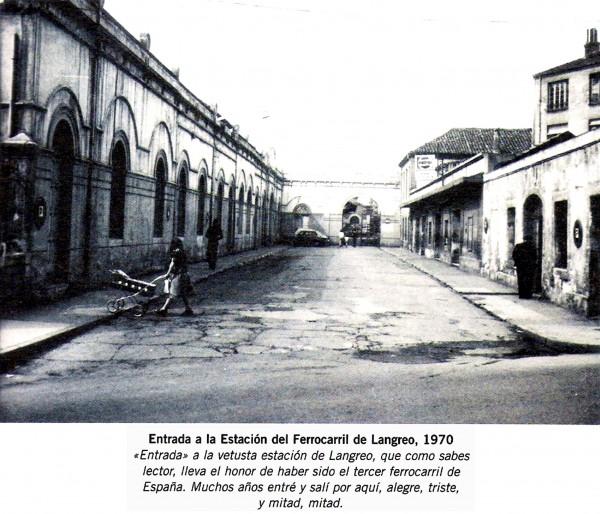 1970. Estacion Ferrocarril Langreo