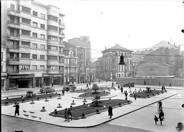 Plaza del Parchís de Gijón, 1946