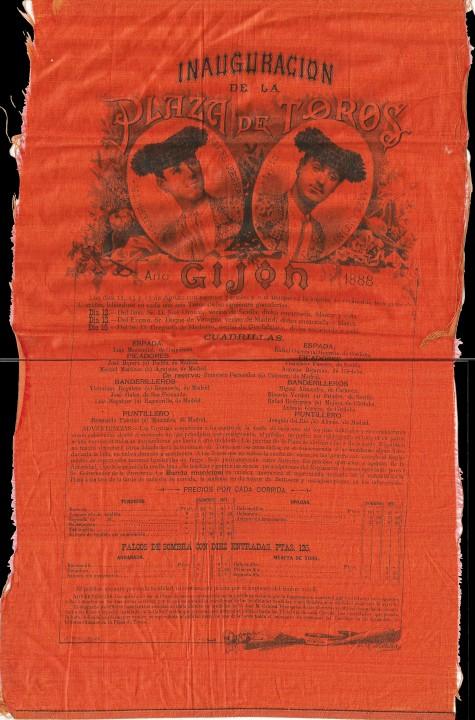 Cartel toros 1888-1