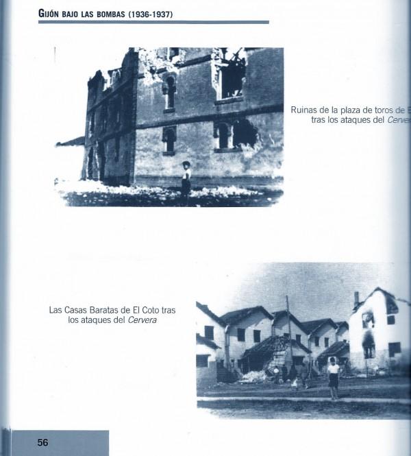 Gijón bajo las bombas