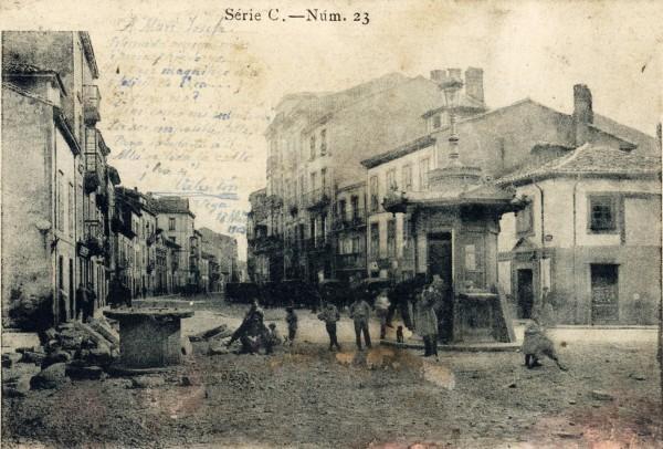 Postal de la Calle de los Moros. Bellmunt. 1903