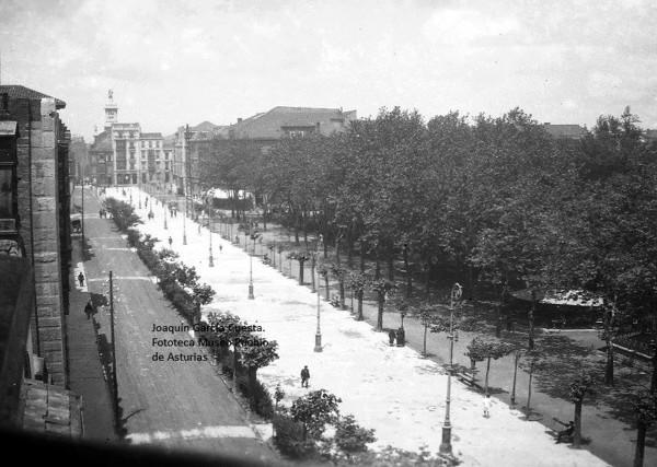 Vista del Paseo de Begoña, hacia 1946