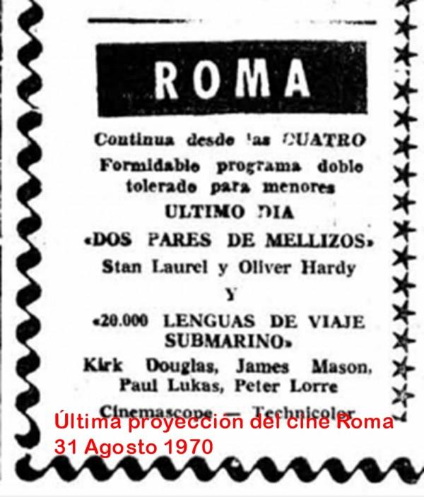 Cierre del cine Roma
