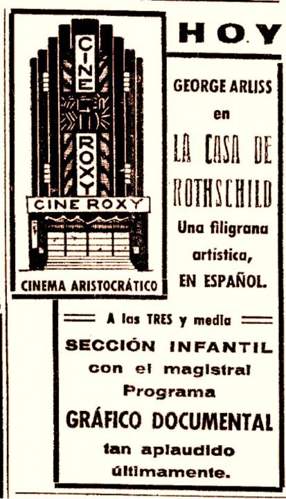 Cine Roxy- La Prensa 31-03 1935