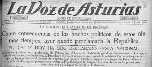la voz de Asturias 15 abril 1931