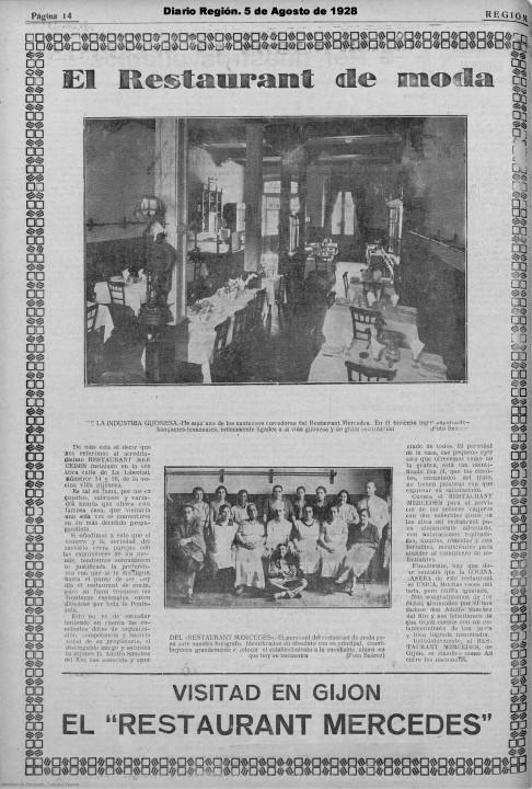 Restaurante Mercedes Suarez 1928 Agosto 05