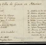 Plano de Gijón. Año 1812