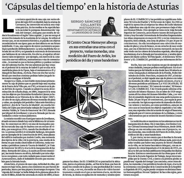Capsulas del tiempo en la historia de Asturias