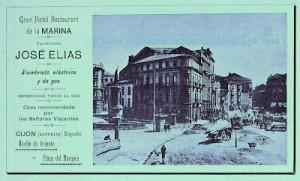 Gijón. Publicidad año 1903