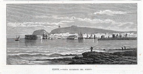 Gijón. Vista exterior del puerto