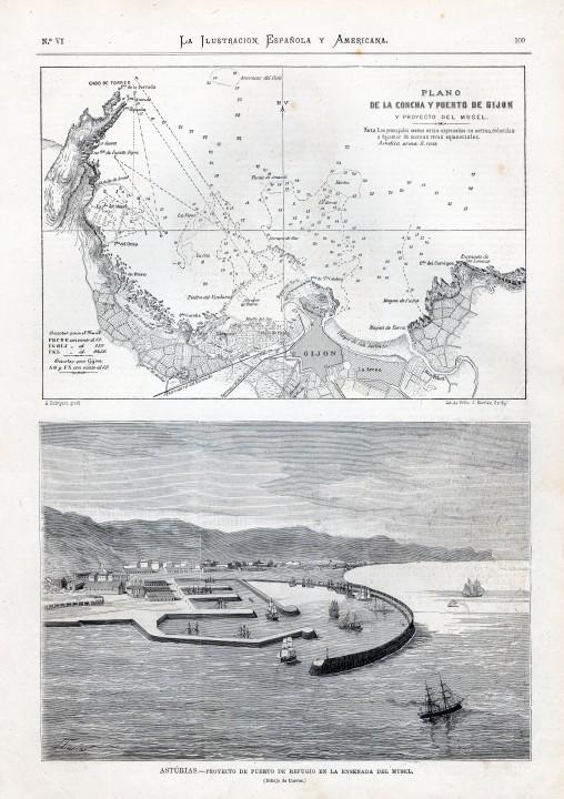 Proyecto de puerto de refugio en la ensenada del Musel
