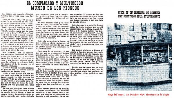 Hoja del lunes . 20 Octubre 1969