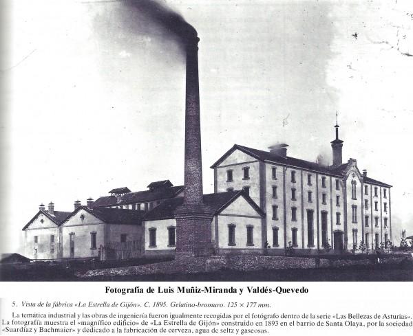 Fábrica de cerveza La Estrella de Gijón 1895