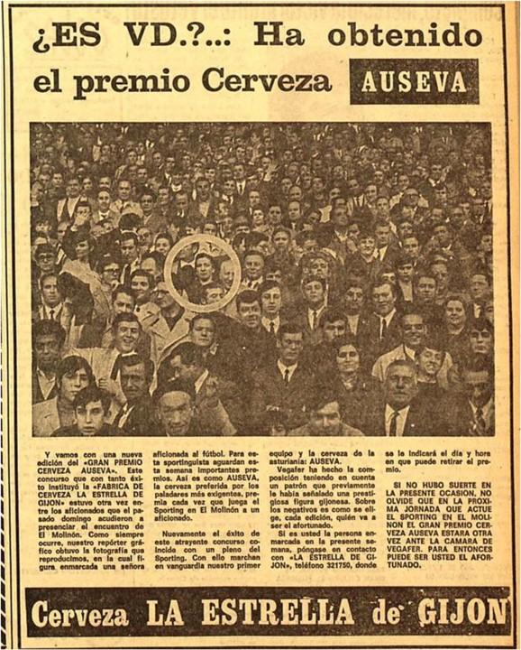 concurso cerveza Auseva 20 -1-1970