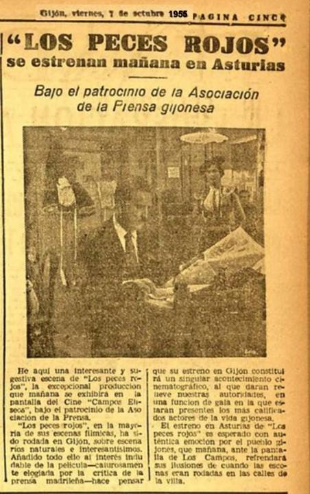 los peces vispera estreno 7-10-1955
