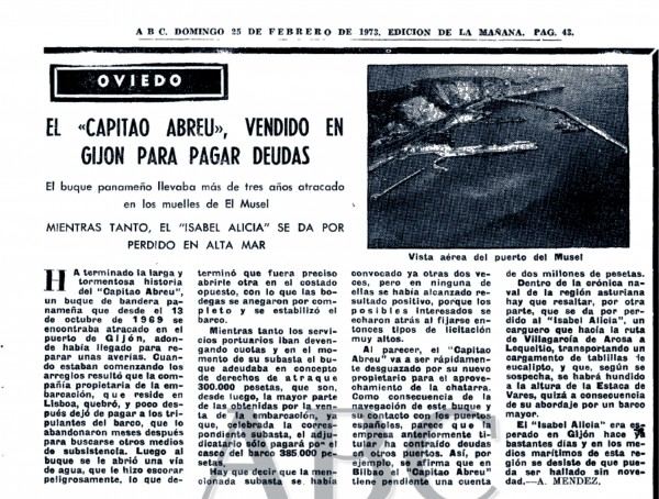 ABC Domingo 25 de Febrero de 1973