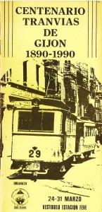 Centenario Tranvías de Gijón 1890-1990.