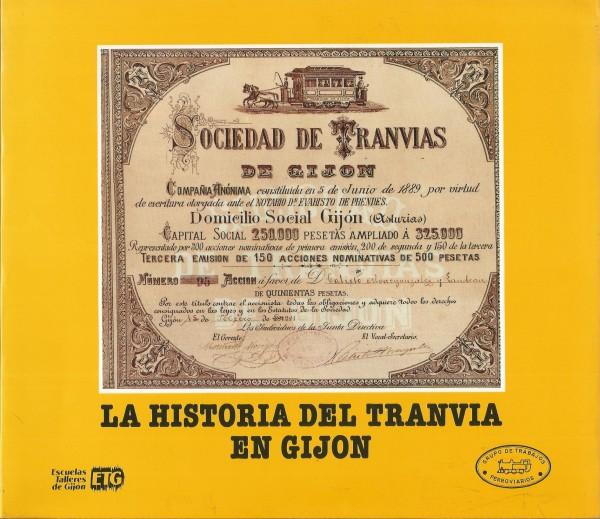 portada libro la historia del tranvía en Gijón