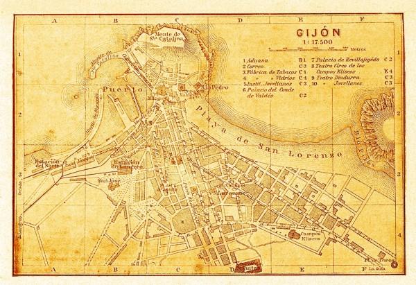 Plano de Gijón