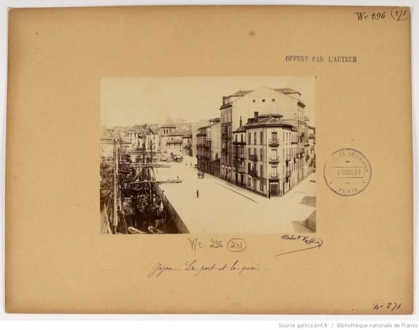 F. 271. Gijón, el puerto y el muelle