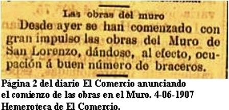 4-06-1907 comienzo obras del muro