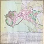 Plano Geométrico del Puerto y Villa de Gijón y de sus entradas y terrenos adyacentes en 1819.