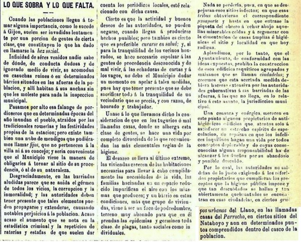 Las viviendas de los pobres. Diario El Comercio.19-12-1890