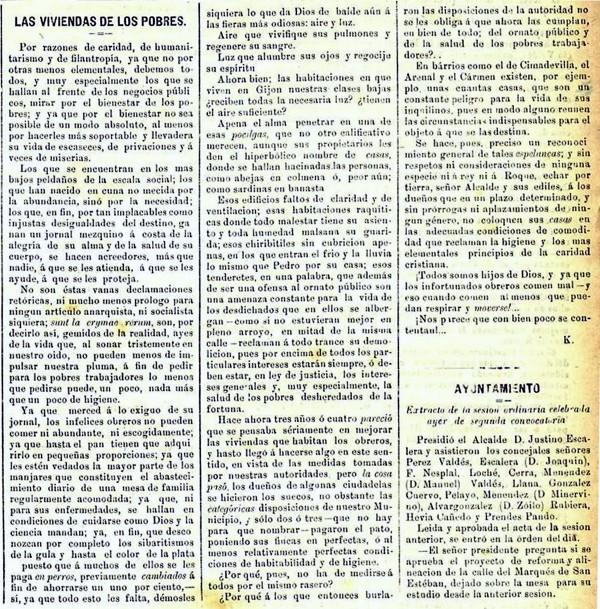 Las viviendas de los pobres. Diario El Comercio.29-10-1895
