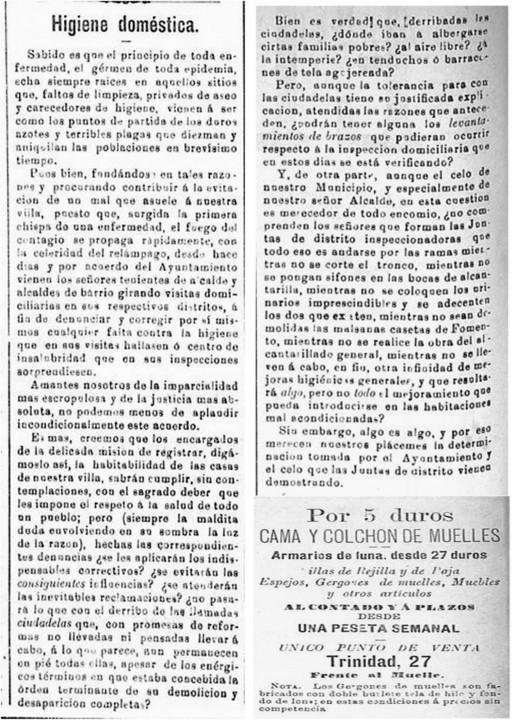 Las viviendas de los pobres. Diario El Comercio.29-9-1892
