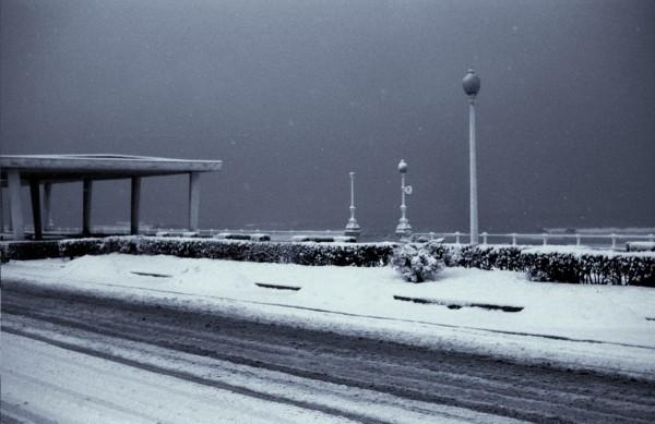 Nieve en Gijón, año 1968 aprox