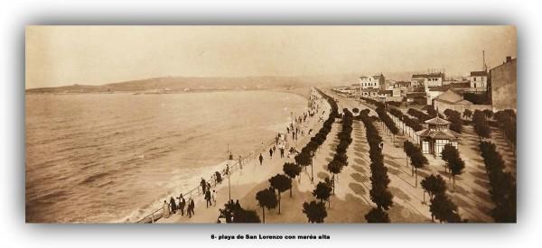 6 Playa de san Lorenzo con marea altamarco