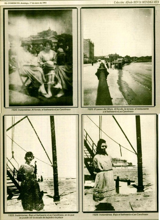 Gijón  Recuerdos de tu playa. 17-01-1993