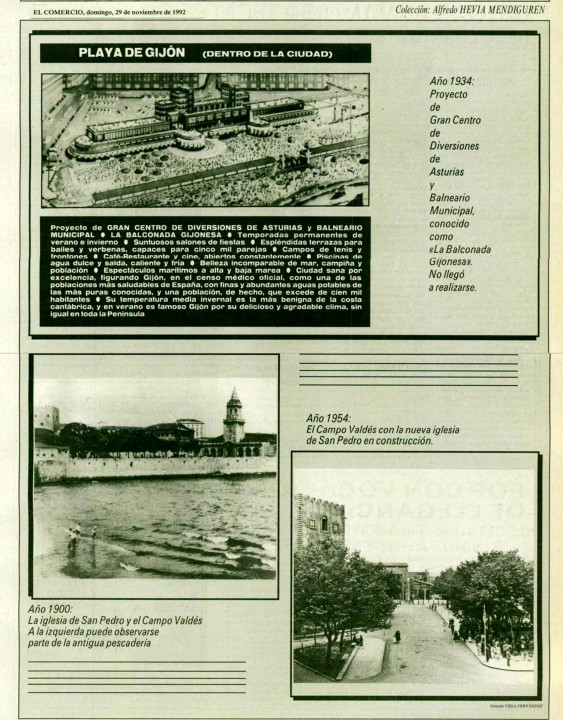 Gijón Recuerdos de tu playa. 29-11-1992
