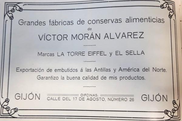 Fábrica de ebutidos de Victor Morán, 1911. Peinado. Publicidad