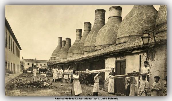 Fabrica de loza La Asturiana 1911. Peinado. marco