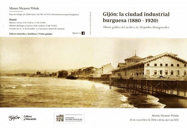 Folleto exposición Gijón la ciudad industrial burguesa 1-2