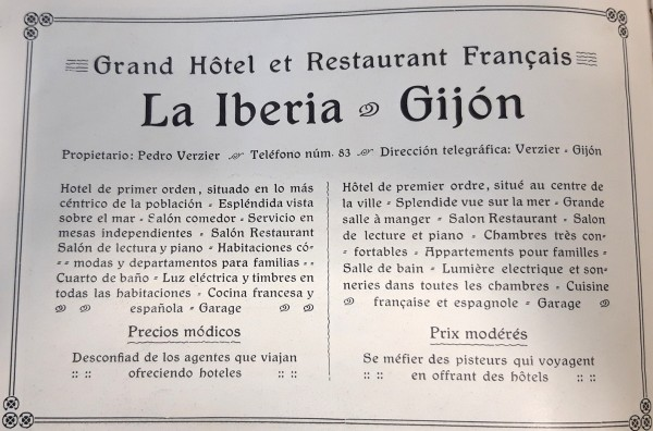 Hotel la Iberia publicidad