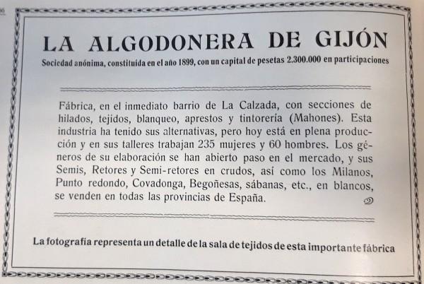 La Algodonera 1911. Peinado. Publicidad