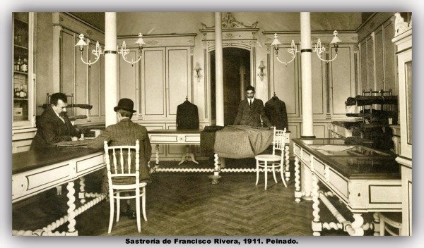 Sastrería de Francisco Rivera, 1911. Peinado. marco