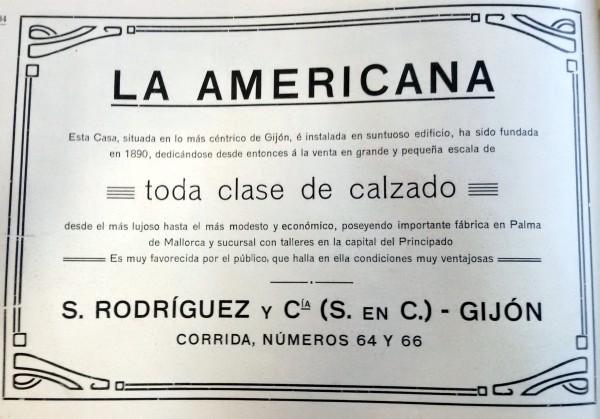 Zapatería La Americana, 1911. Peinado. Publicidad