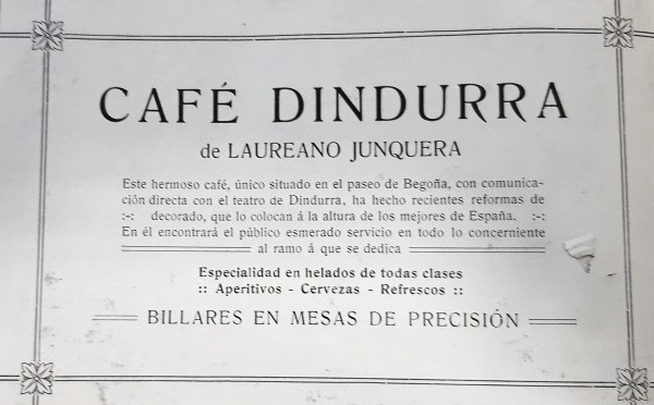 café Dindurra.publicidad