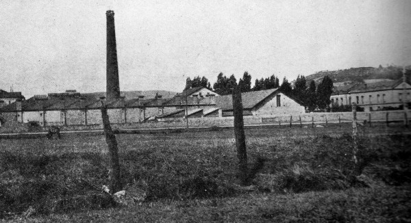 1910 La Algodonera. Vista desde Gijón Fabril