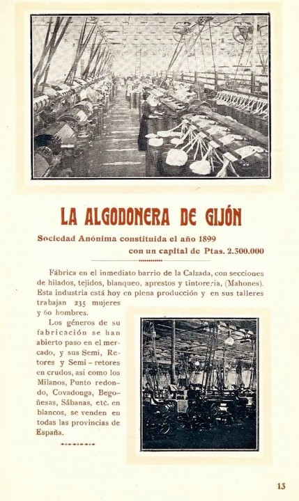 la algodonera talleres 1912