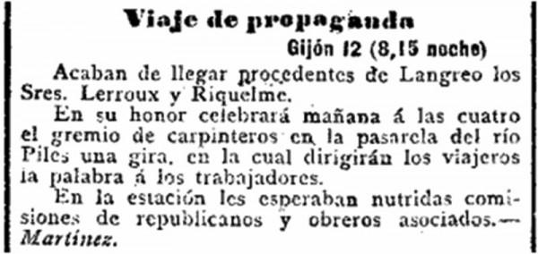 El Imparcial. 13-8-1901