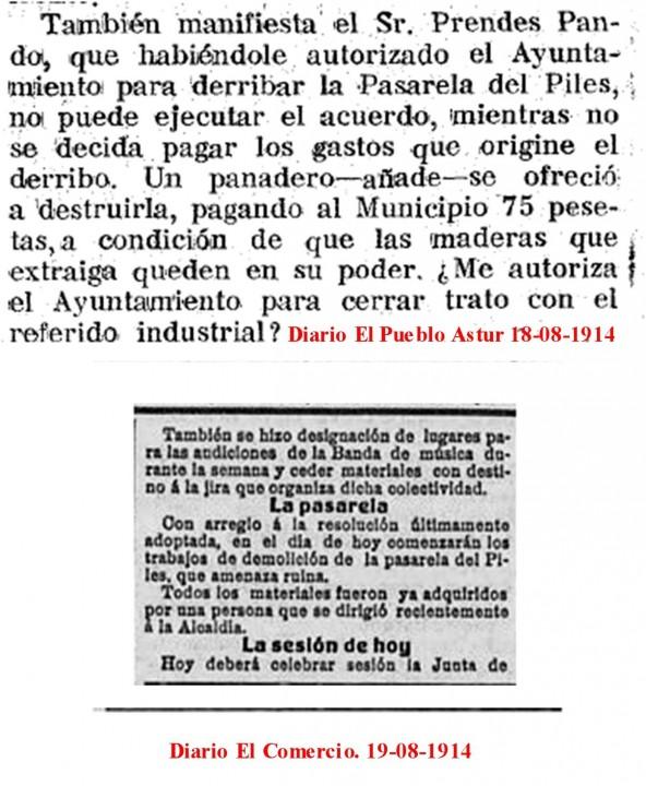 El publo astur aprobado derribo 18-08-1914