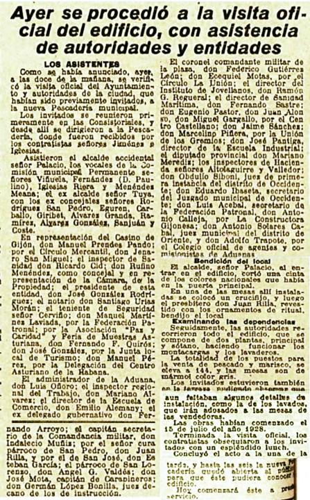 Inauguracion pescaderia 1930.jpgEl comercio